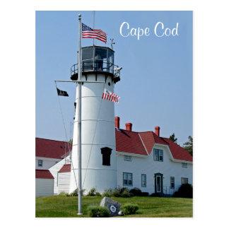 ケープコッドの固まりのChathamの灯台郵便はがき ポストカード
