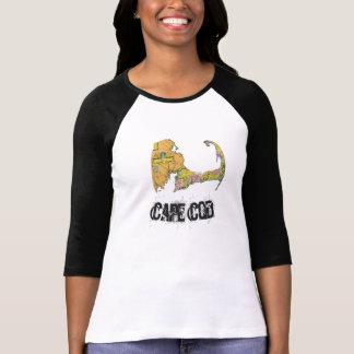 ケープコッドの地図の女性のワイシャツ2 Tシャツ