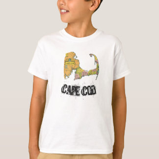 ケープコッドの地図の男の子のワイシャツ Tシャツ