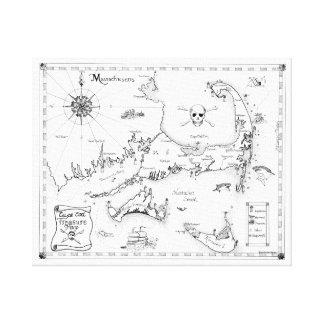 ケープコッドの宝物地図 キャンバスプリント
