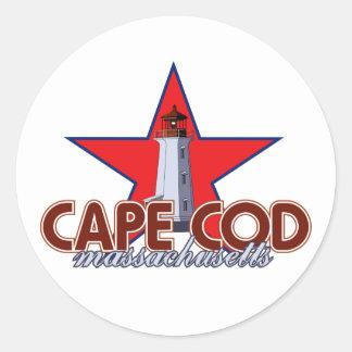 ケープコッドの灯台 ラウンドシール