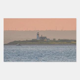ケープコッドの灯台 長方形シール