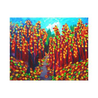 ケープコッドの秋 キャンバスプリント