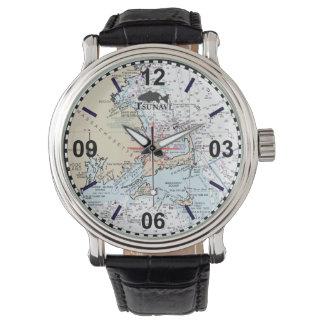 ケープコッドの航海のな図表の腕時計 腕時計
