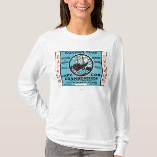 ケープコッドのMayflower Eatmorのクランベリーのブランド Tシャツ