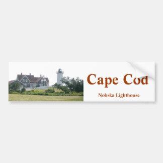 ケープコッドのNobskaの灯台バンパーステッカー バンパーステッカー