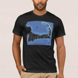 ケープコッドは地図を浜に引き上げます Tシャツ