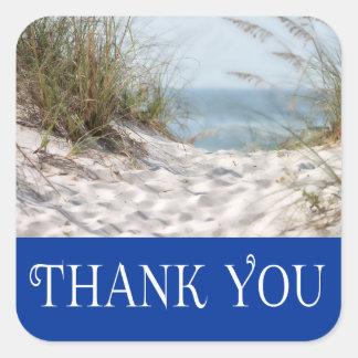ケープコッドマサチューセッツはビーチのステッカー感謝していしています スクエアシール