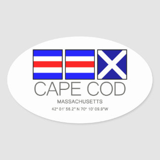 ケープコッド、マサチューセッツ航海のな旗の芸術 楕円形シール