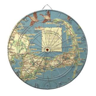 ケープコッド(1940年)のヴィンテージの地図 ダーツボード