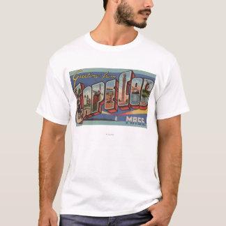 ケープコッド、MassachusettsLargeの手紙場面 Tシャツ