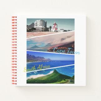 ケープタウンのライオンのヘッド海のコラージュのノート ノートブック