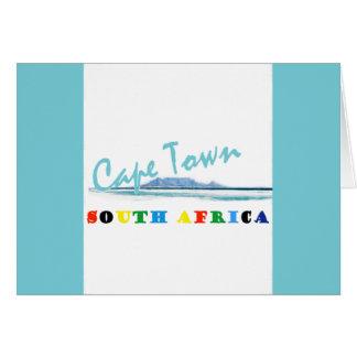 ケープタウン南アフリカ共和国の挨拶状 カード