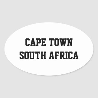 ケープタウン南アフリカ共和国の楕円形のステッカー 楕円形シール