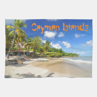 ケーマン諸島の熱帯島 キッチンタオル