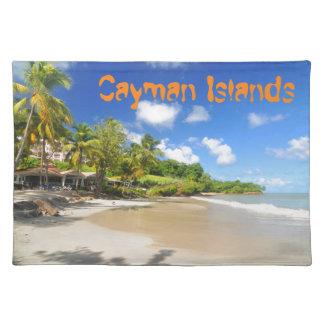 ケーマン諸島の熱帯島 ランチョンマット
