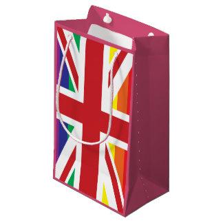 ゲイのイギリスの(LGBTのイギリスの旗)中型のギフトバッグ スモールペーパーバッグ