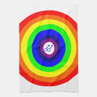ゲイの男性の円形の虹の台所タオル キッチンタオル