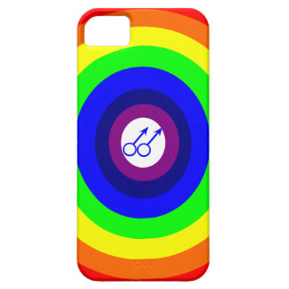 ゲイの男性の円形の虹のiPhoneの場合 iPhone SE/5/5s ケース