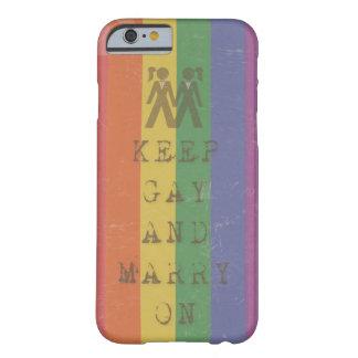 ゲイを保って下さい及びのために… -彼女結婚して下さい BARELY THERE iPhone 6 ケース