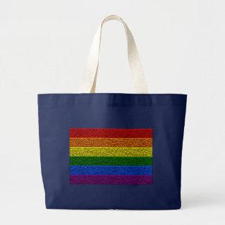 ゲイプライドのクロム旗 ラージトートバッグ
