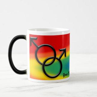 ゲイプライドのコップのマグの男性ゲイプライドのギフト モーフィングマグカップ