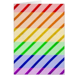 ゲイプライドのストライプのな旗 カード