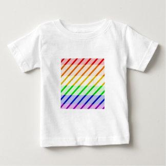 ゲイプライドのストライプのな旗 ベビーTシャツ