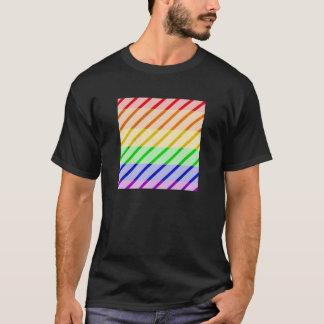ゲイプライドのストライプのな旗 Tシャツ