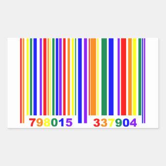 ゲイプライドのバーコード 長方形シール