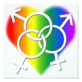 ゲイプライドのパーティの招待状LGBTのプライドカード カード
