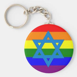ゲイプライドのユダヤ人の旗 キーホルダー