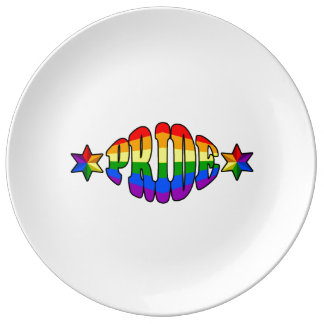 ゲイプライドのロゴ 磁器プレート