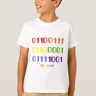 ゲイプライドの二進Tシャツ(ライト) Tシャツ
