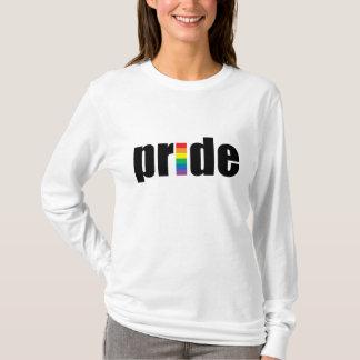 ゲイプライドの女性長袖 Tシャツ