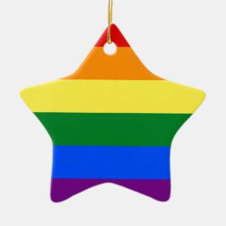 ゲイプライドの旗のデザイン セラミックオーナメント