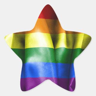 ゲイプライドの旗の星形のステッカー 星シール