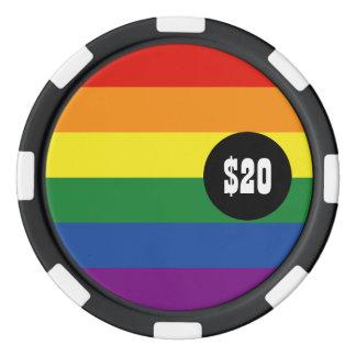 ゲイプライドの旗 ポーカーチップ
