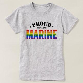 ゲイプライドの海洋の虹の旗 Tシャツ