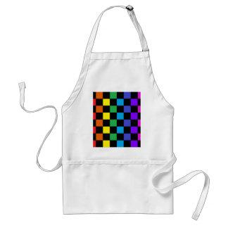 ゲイプライドの虹のギフト-虹のチェス盤 スタンダードエプロン