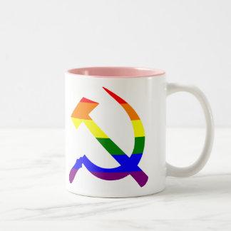 ゲイプライドの虹のソビエトソ連国旗 ツートーンマグカップ