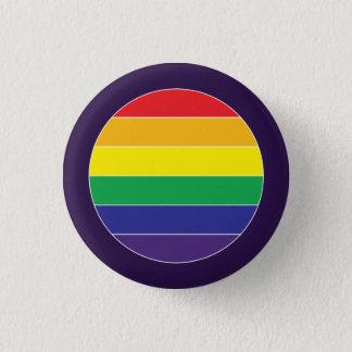ゲイプライドの虹の旗色 缶バッジ
