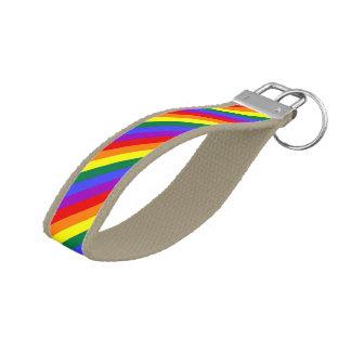ゲイプライドの虹の旗 リストバンドキーホルダー