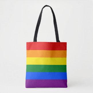 ゲイプライドの虹の旗LGBT トートバッグ