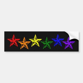 ゲイプライドの虹の星 バンパーステッカー
