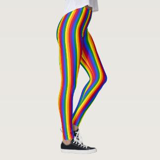 ゲイプライドの虹は縞で飾ります レギンス