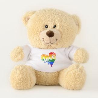 ゲイプライドの虹LGBT愛ハート テディベア