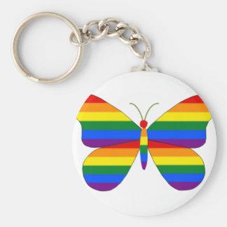 ゲイプライドの蝶 キーホルダー