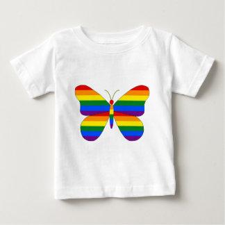ゲイプライドの蝶 ベビーTシャツ