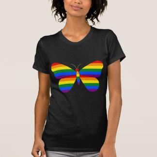 ゲイプライドの蝶 Tシャツ